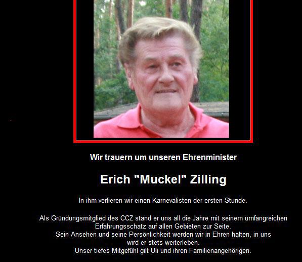 Nachruf Erich Zilling