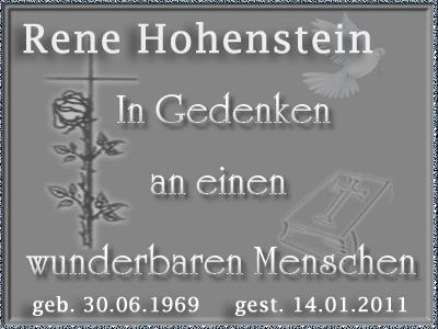 Nachruf Rene Hohenstein