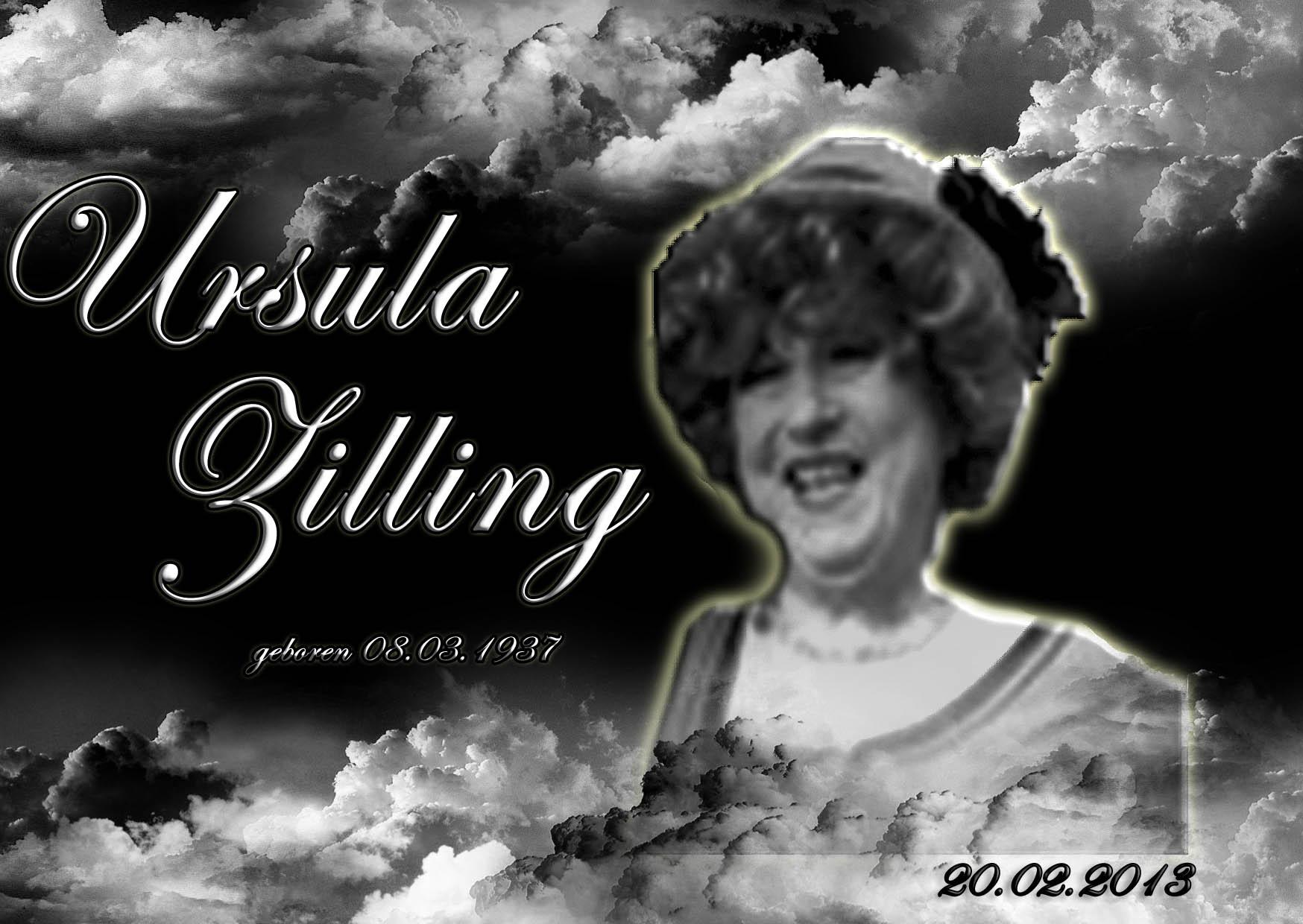 Nachruf Ursula Zilling